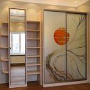 Стильный шкаф с витражом