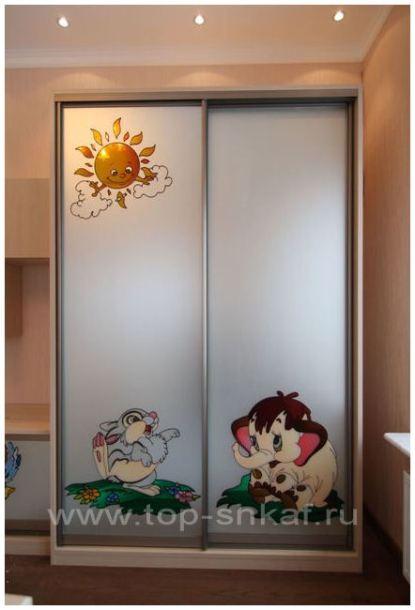 Шкафы в детскую комнату фото работ