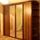 Шкаф с фасадами зеркало серебро и ДСП