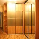 Угловой шкаф-купе с зеркалом сатинат