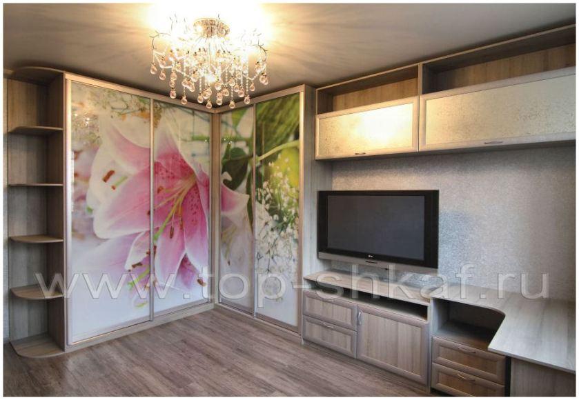 Шкафы-купе и стенки в гостиную, фото работ, расчёт на сайте .