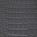 Декоративная кожа Крокодил  серый глянец