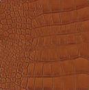 Декоративная кожа Крокодил  коричневый глянец