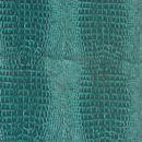 Декоративная кожа Крокодил  бирюзовый глянец