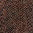 Декоративная кожа Анаконда коричневая