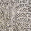 Декоративная кожа Игуана серебряная