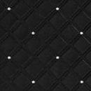 Декоративная кожа Ромбо 85 со стразами черный