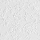 Декоративная кожа Флораль белый