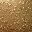Декоративная кожа Флораль золото