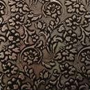 Декоративная кожа Флораль черный с серебром