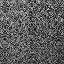 Декоративная кожа Империал черный с серебром