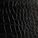 Декоративная кожа Крокодил черный глянец