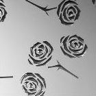 3D пластик Розы серебро/серебро