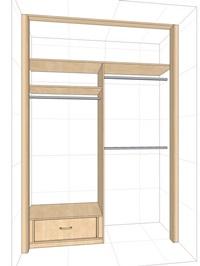 Встроенный шкаф-купе с антресолью