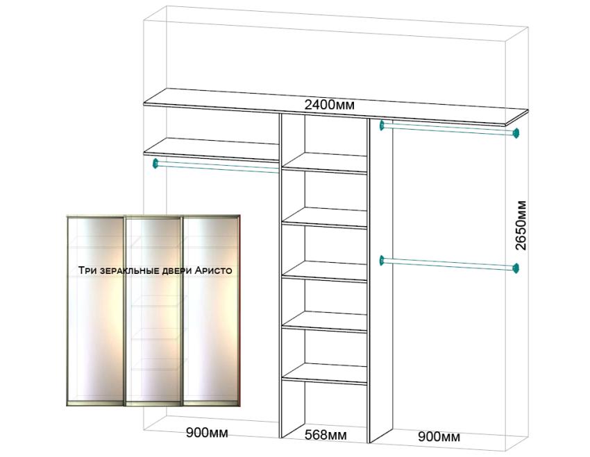 Встроенный шкаф-купе с пескоструйным рисунком